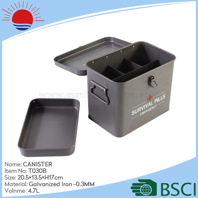 Chinese Manufacture Direct Production Emergency Box Metal First Aid Kit Box Portable Medical Tool Box with tray