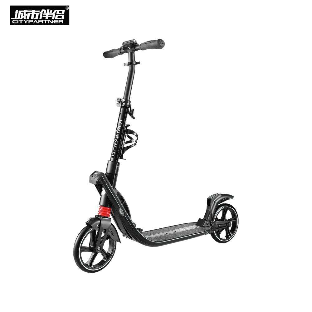 City partner oxelo big 200mm 2 wheel adult foot pedal kick scooter