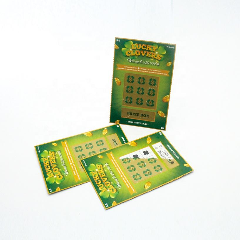 Business scratch card with variable number