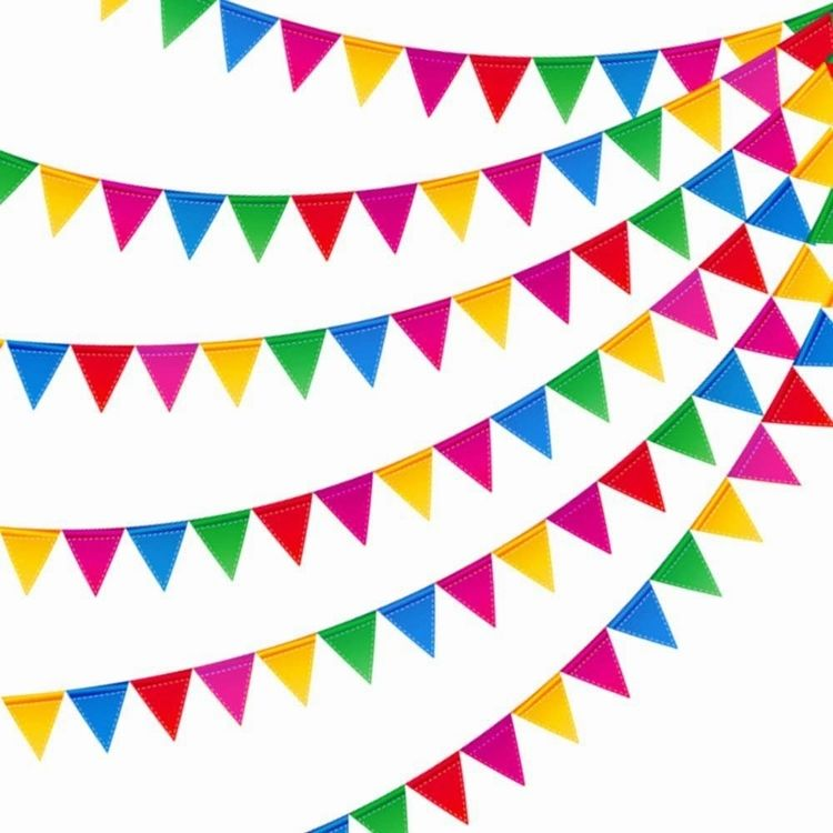 Chuangdong Custom colorful festival decoration bunting cheap triangle flag