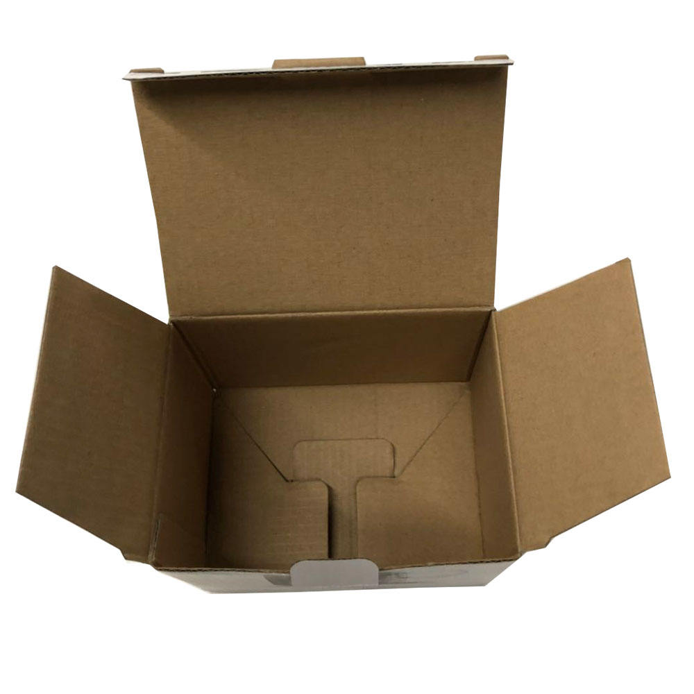 Custom cheap craft paper carton corrugated peak packaging box for cup