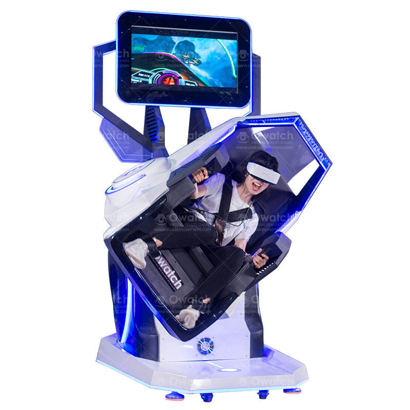 360 Degree Rotation Virtual Reality Amusement Park Equipment 9D VR Simulator Roller Coaster Motion Chair
