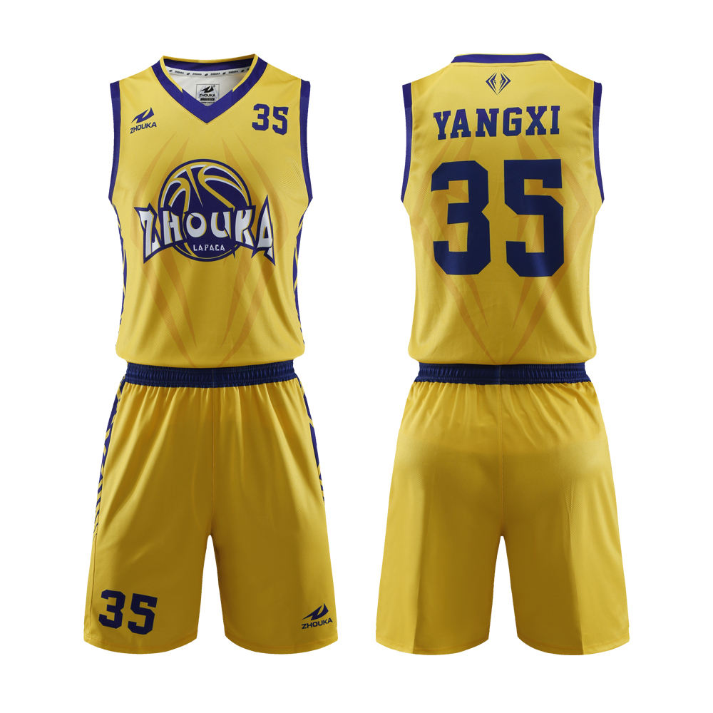 2019 Custom 다 Latest Top Quality 육상 <span class=keywords><strong>농구</strong></span> jersey design color yellow