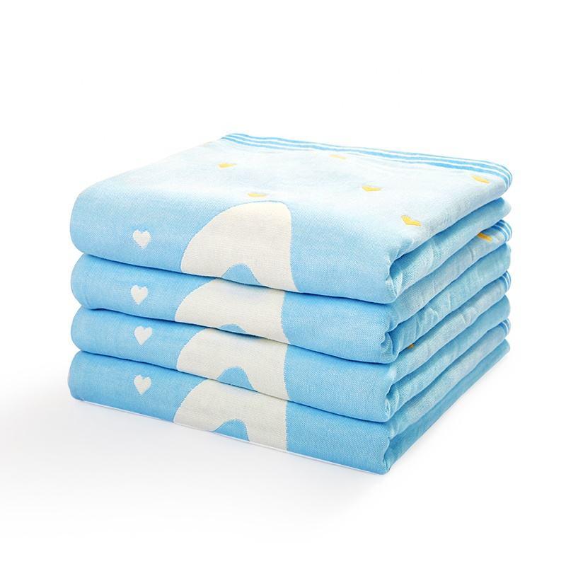 modello del fumetto del bambino trapunta 100% del bambino del cotone pettinato coperta di mussola swaddle coperta