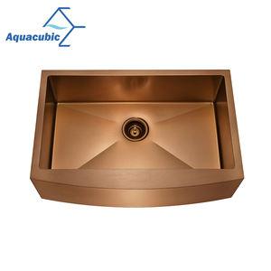 Aquacubic apron front nano titanium 304 stainless steel kitchen sink