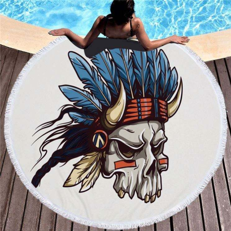 2019 New Beach Towel With Tassel Fringe Cartoon Pattern quality Shape Round Wholesale Bulk Beach Microfiber Towel