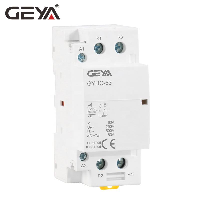 GEYA GYHC 2 P 63A <span class=keywords><strong>מגעון</strong></span> 2NO 110 V 220 V <span class=keywords><strong>AC</strong></span> סליל חשמלי מגנטי Contactors עם CE CB תעודה