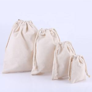 Custom Print Linen Reusable Muslin Bag Gift Candy Favor Bag Jewelry Pouches Small Drawstring Bag for Wedding Tea Rice
