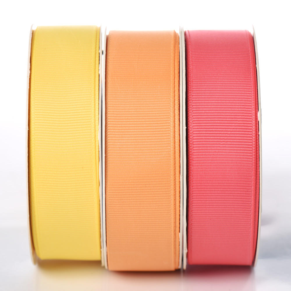 Factory Direct Fashion Custom 25mm Polyester Plain Grosgrain Ribbon