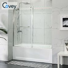 2 door one sided double shower enclosure wholesale shower door bathtub size shower stall frameless tub enclosures