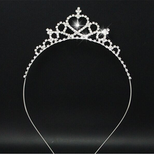 2019 Newest style plastic hair accessories crown tiara hair band for girl