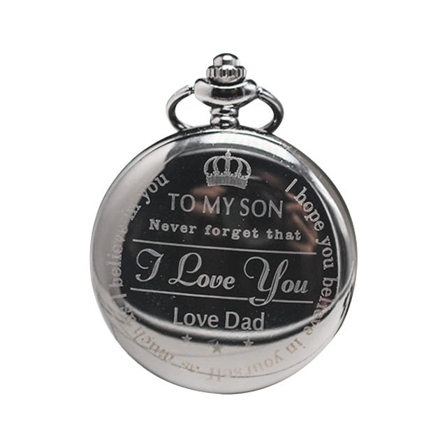 Hot style To My Son Love Dad pocket watch for father's day