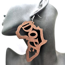 2019 Africa Dope Wooden Earrings