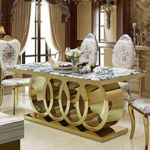 Classical Indoor Furniture Dining Table Furniture Marble Dining Table Set Marble Round Cheap Dinning Table And Chairs