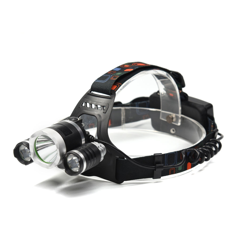 Aluminum Headlamp 18650 Rechargeable Charging 4 Mode 3 Headlight 400 LM High Power Miners Torch Flash Light 10W 3W LED Head Lamp