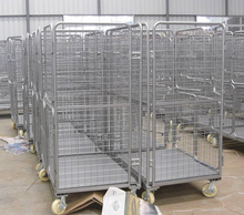 Metal storage container customized logistics trolley for warehouse