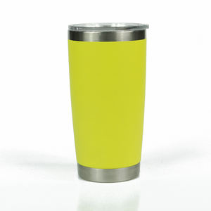 Grosir 20 Oz Double Wall Vacuum Insulated Perjalanan Mug Tumbler Stainless Steel Gelas Anggur