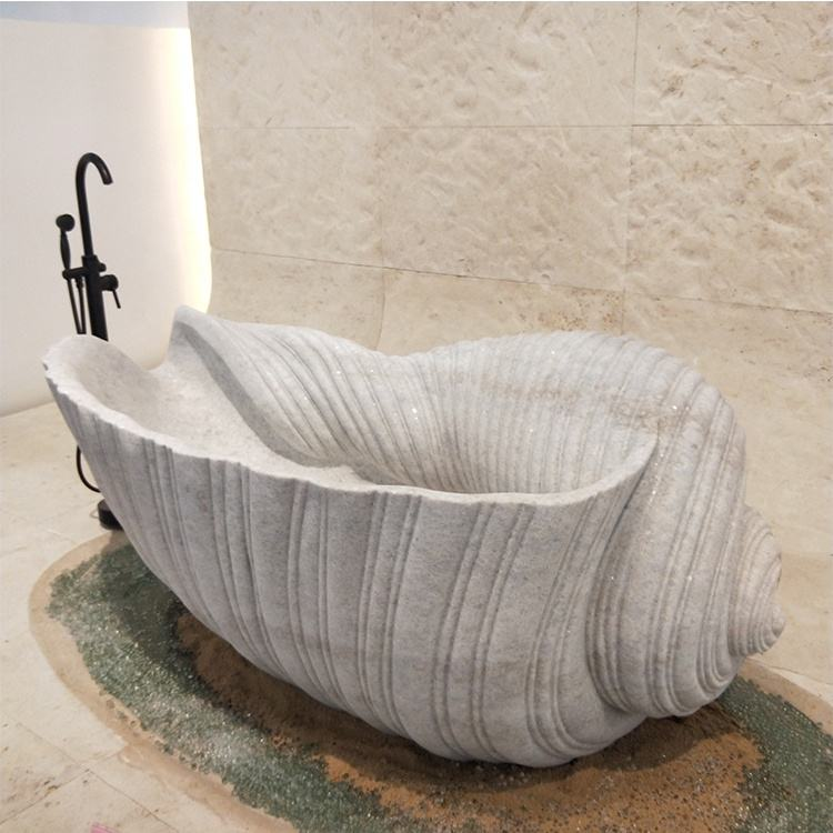 China manufacturer direct natural stone white marble bathroom bathtub