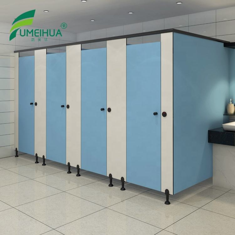 13 mm thickness woodgrain color toilet doors & partition panels