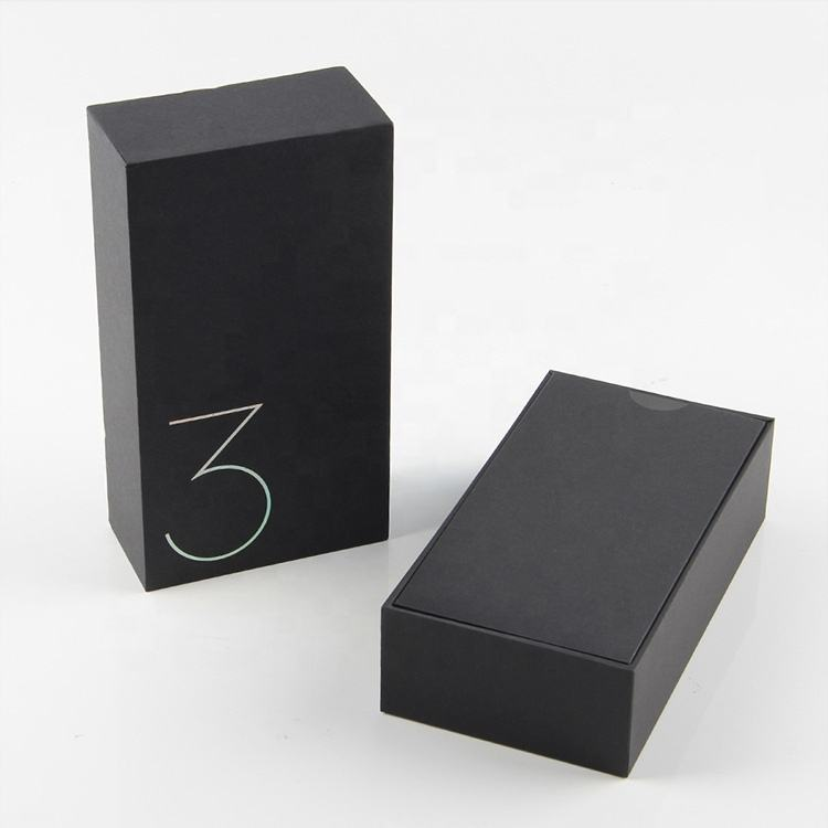 unlocking apple style cell phone packaging box with foam insert