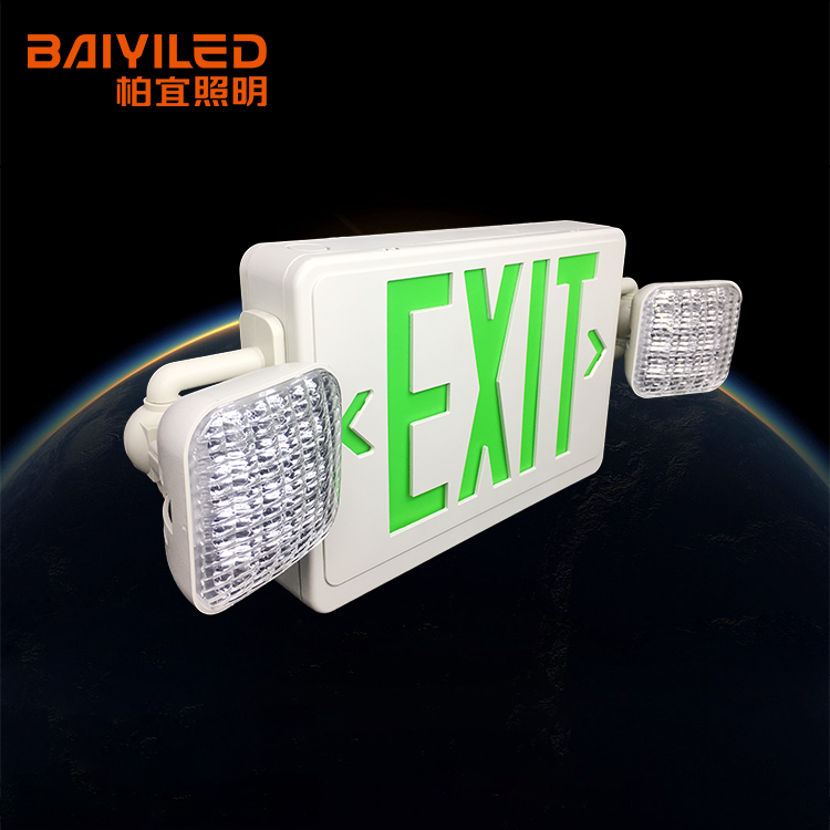 Exit Emergency Light and 220v Lighting and Power Equipment 2 Hour Time with Twin Head