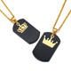 2019 Jewelry High Quality Gold Plate King Queen Crown Blank Couple Detachable pendant necklace