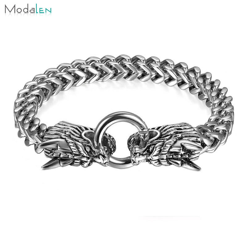 OEM ODM dragon 316l stainless steel bracelet hand chain for men, bracelet man steel