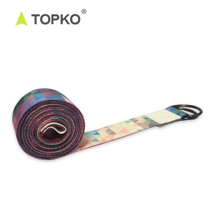 TOPKO Wholesale Custom Printing Eco Friendly 8 Feet D Ring Yoga Strap