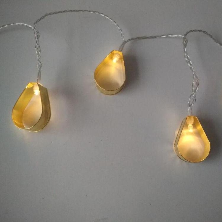 globo en forma de linterna de Metal Vintage batería operada LED cadena luces para fiesta <span class=keywords><strong>casa</strong></span> Decoración de cumpleaños