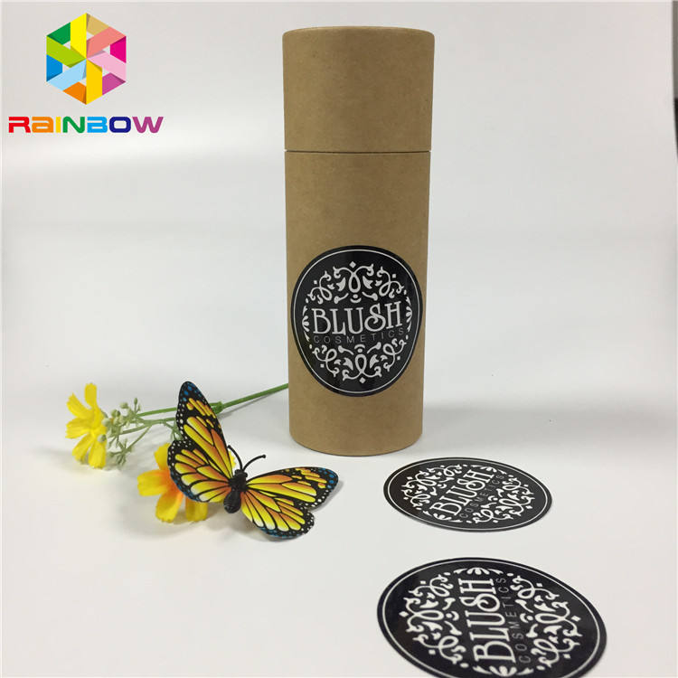 New style custom print logo matte round label high viscosity waterproof Feature sticker stick on the tea boxes
