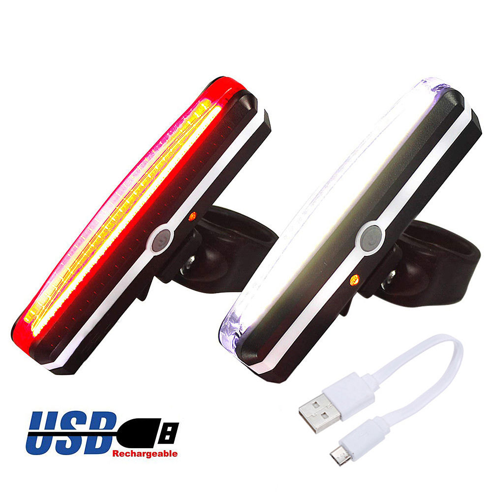 Bicycle Light Rechargeable Front Bike Tail Rear Light Bright Bike Led Flashlight for Bicycle Luz Bicicleta Luces Bicicleta
