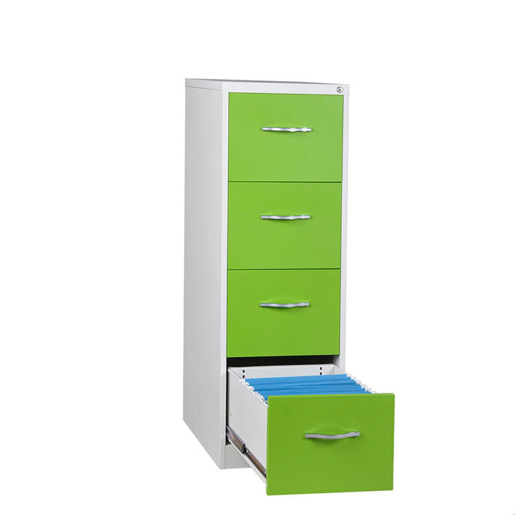 Hot Stainless Office File Cupboard Storage Steel Legal Paper Wooden Children 4-drawers Cabinet Lateral 4 Drawer Filing Cabinets
