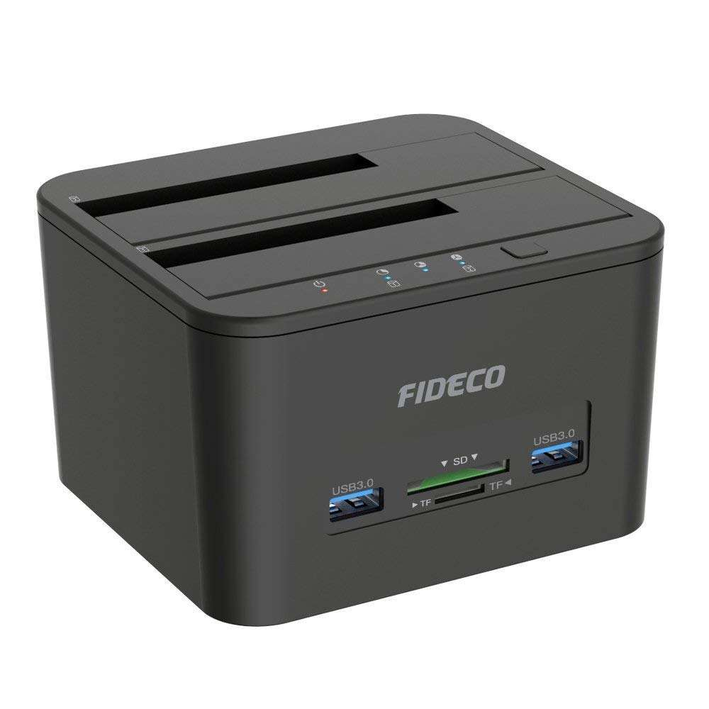 FIDECO USB 3.0 all in 1 hdd docking station driver 2.5 3.5 external hard drive with card reader