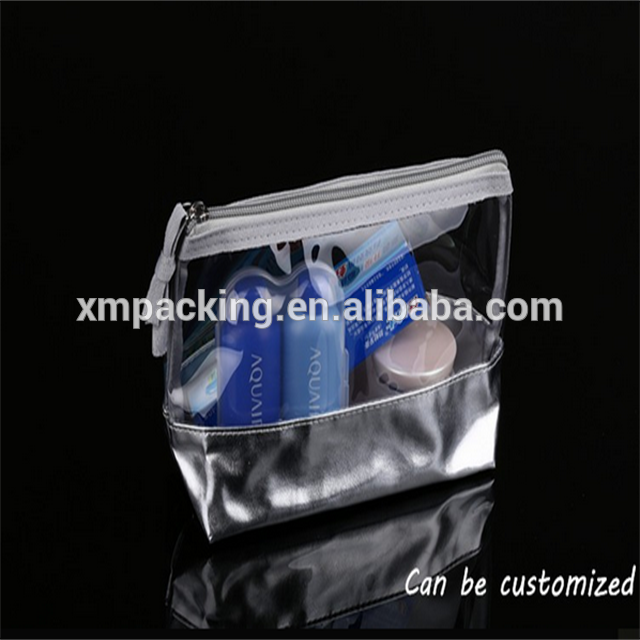 Top leader usine d'emballage violet transparent <span class=keywords><strong>pvc</strong></span> personnalisé sac cosmétique d'embrayage