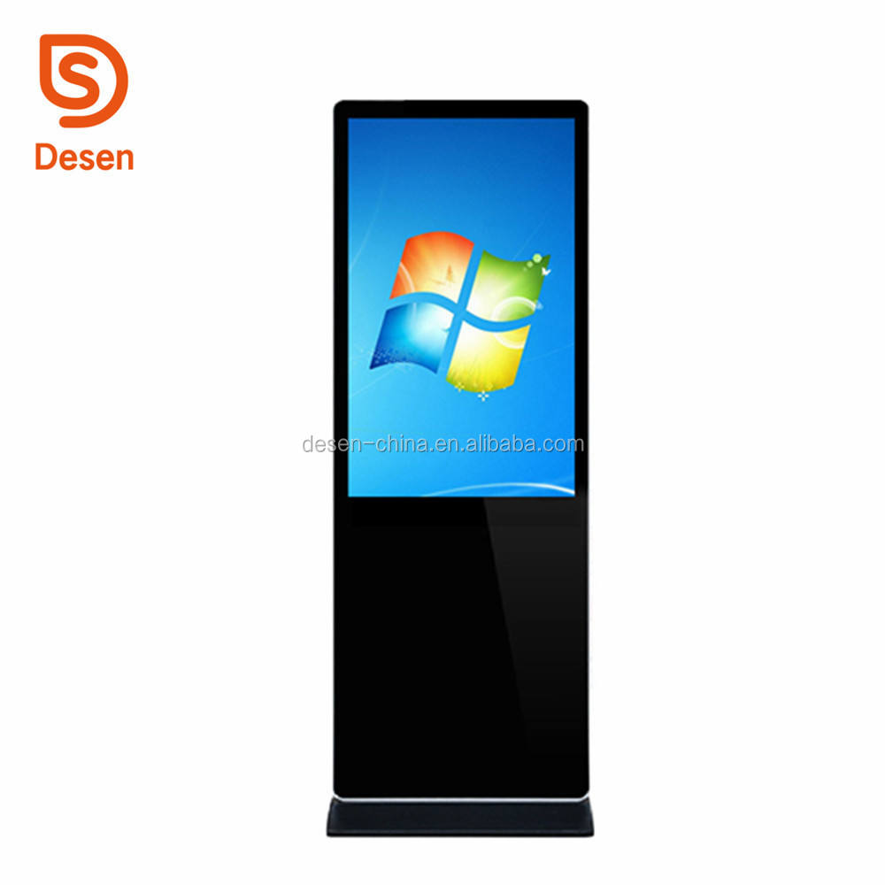 43 inch LCD digital signage advertising stands floor standing touch screen kiosk marketing advertising kiosk