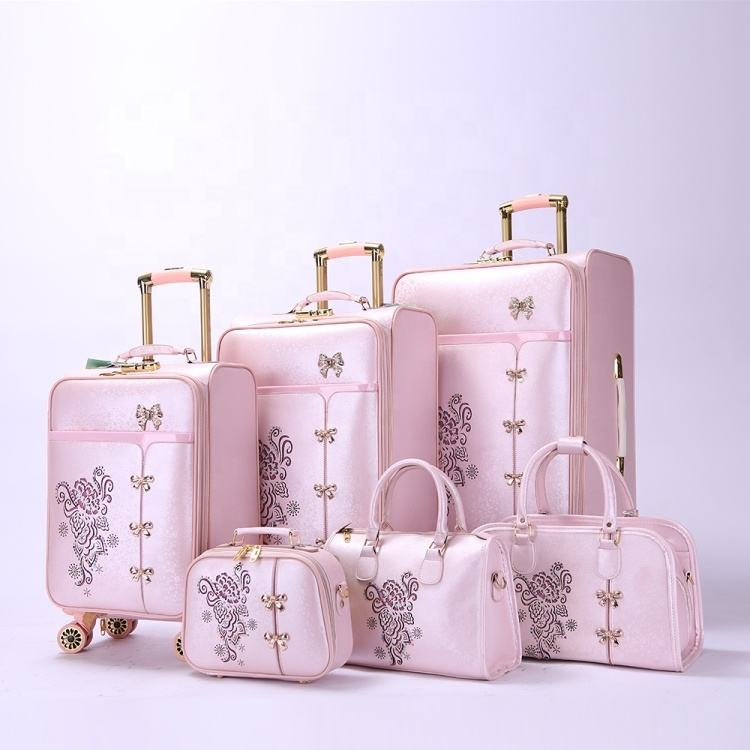 2019 puleather chariot à <span class=keywords><strong>bagages</strong></span> <span class=keywords><strong>ambre</strong></span> <span class=keywords><strong>bagages</strong></span> rose accessoires de bagage