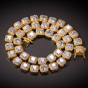 Men Hip hop Square Zircon Tennis Chain Necklace Bracelet High quality Iced Out Bling Necklace Chains (SK231)