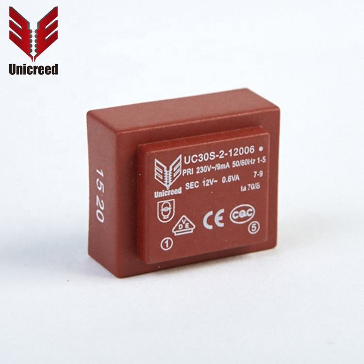 Customized Secondary Voltage 12V Current Encapsulated Transformer 230v 0.6va