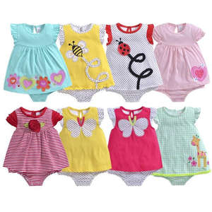 New spring summer body piece plain color climbing jeans conjoined baby clothes 100% organic cotton romper