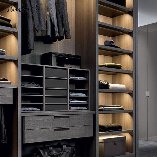 Luxury closet organizer wardrobe black man changing clothes bedroom furniture