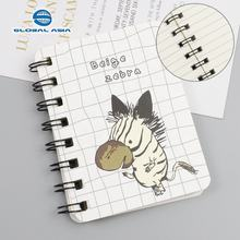 2019 high quality custom stationery supplier cute korean mini pocket spiral note book wholesale