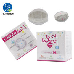 Super absorption elastic leak guards on double sides super soft and dry breathable  breast nursing pad