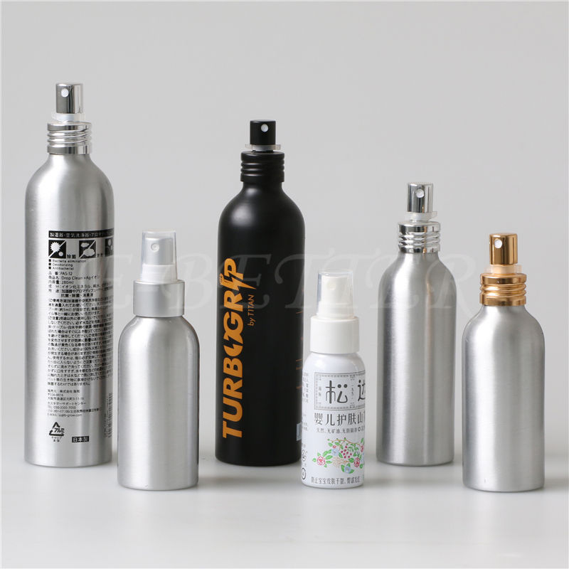 empty 100ml 250ml 300ml 500ml aluminum spray bottle for packing perfume