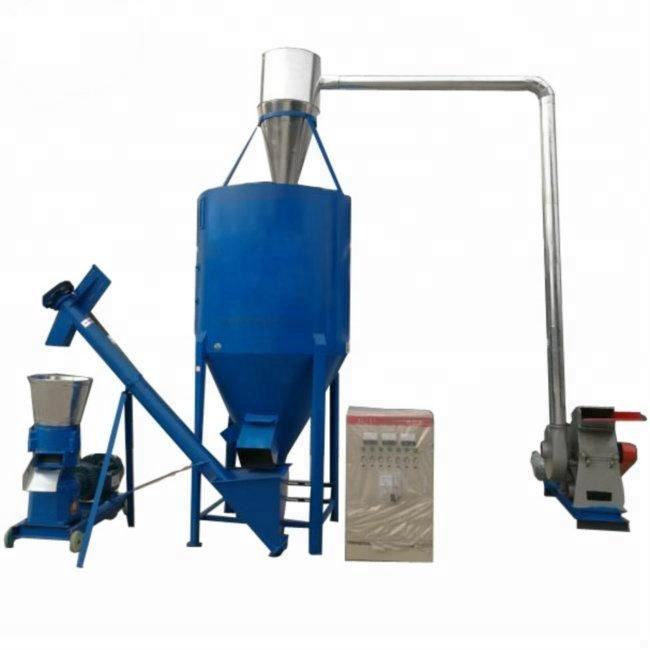 500 kg/h CE Certificated Small Poultry Animal Chicken Feed+Processing+Machines