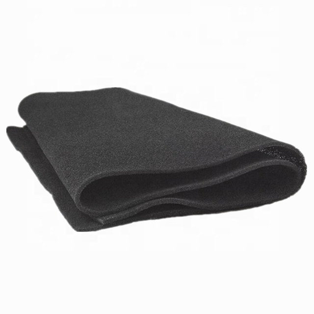 China Factory Sells Custom Air Filter Powder Activated Carbon Foam Sponge Sheet