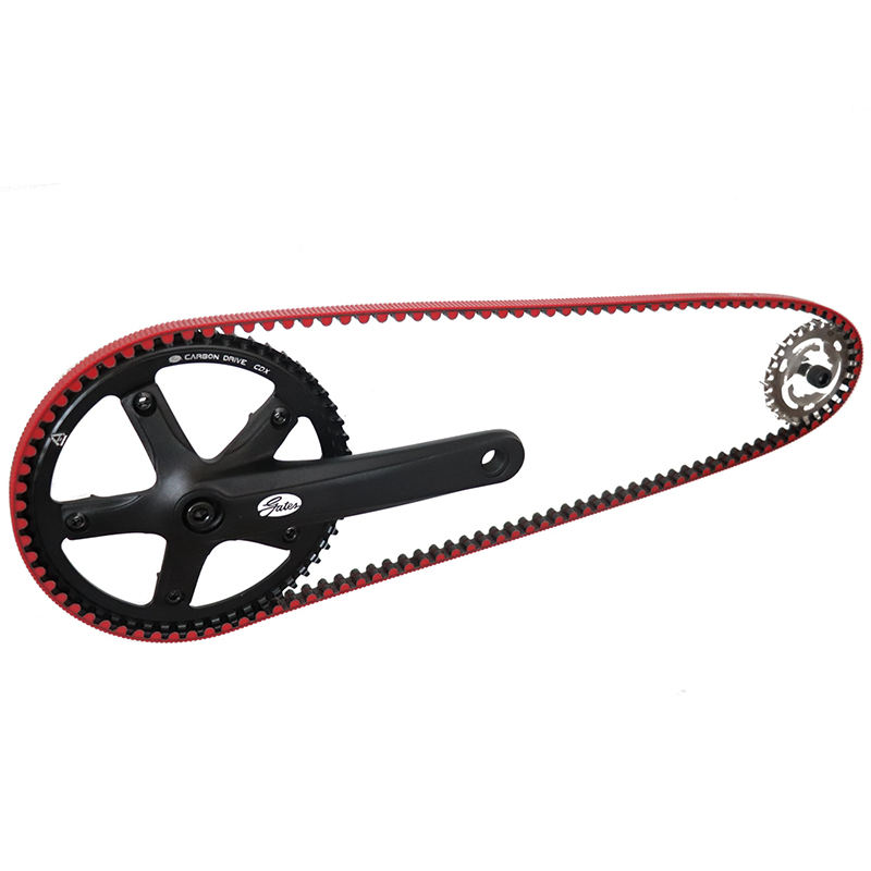USA Gates Bicycle Sprockets Carbon Fiber Timing Belts Pulley Rubber V-belt CDX CDN Bike Drive Belt Bicycle Crankset
