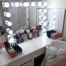 14pcs bath mirror bi-color hollywood mirror led makeup mirror for girl