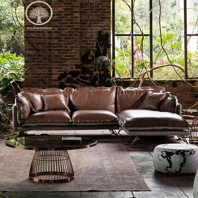 2018 Nuovo divano in pelle set divano componibile in pelle mobili per la casa