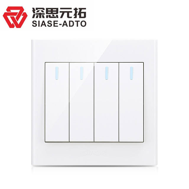 4 gang 2 way 벽 switch 10A 별점하나는 & # Current 및 250 V 별점하나는 & # Voltage British Standard electrical 스 white