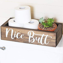 Bathroom Decor Box - Toilet Paper Holder - Farmhouse Rustic!